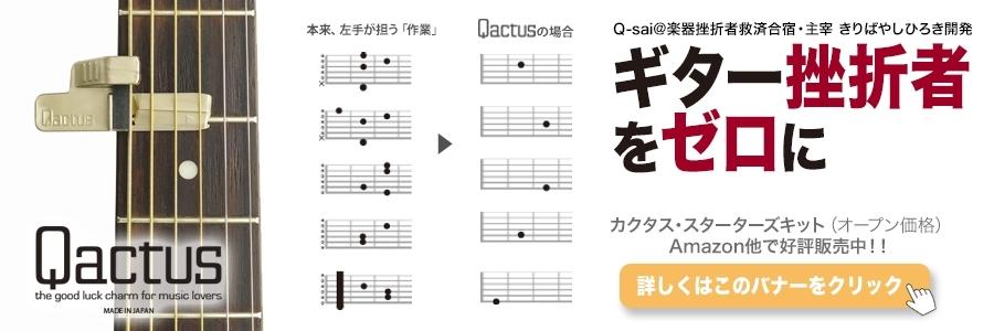 ギター挫折者と未経験者・初心者のための演奏アシスト特許ツールQactus カクタス