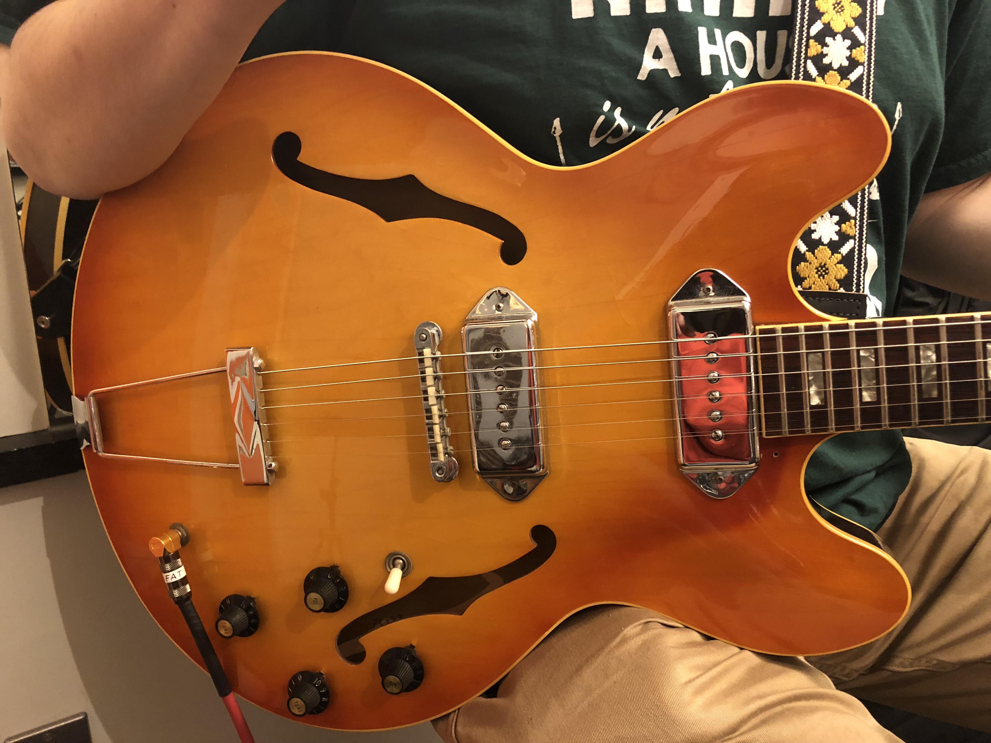 宇野振道場 Q-sai@楽器挫折者救済合宿 ギター教室 ギブソン ES-330