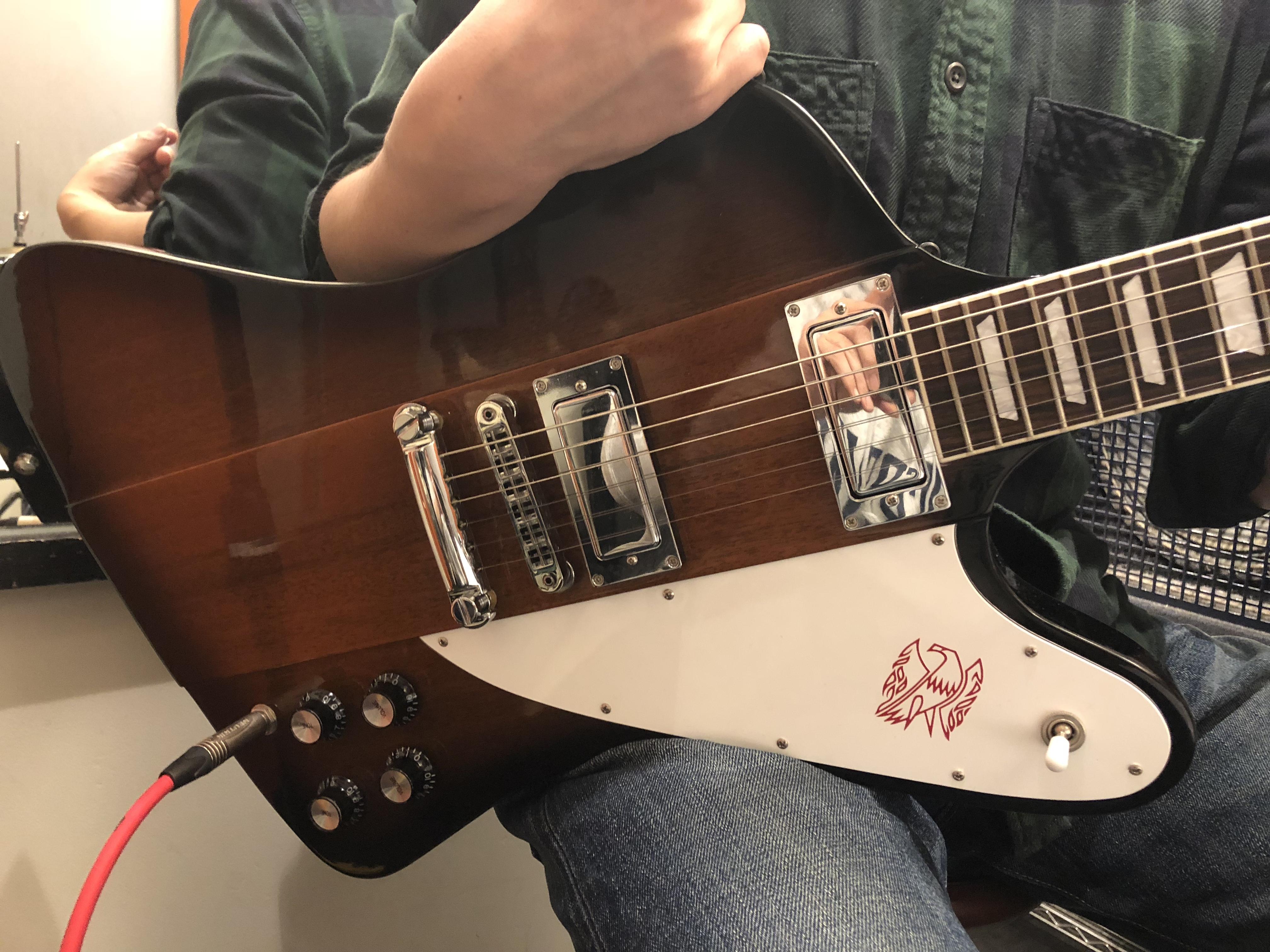 宇野振道場 Q-sai@楽器挫折者救済合宿 ギター教室 ギブソン ファイヤーバード